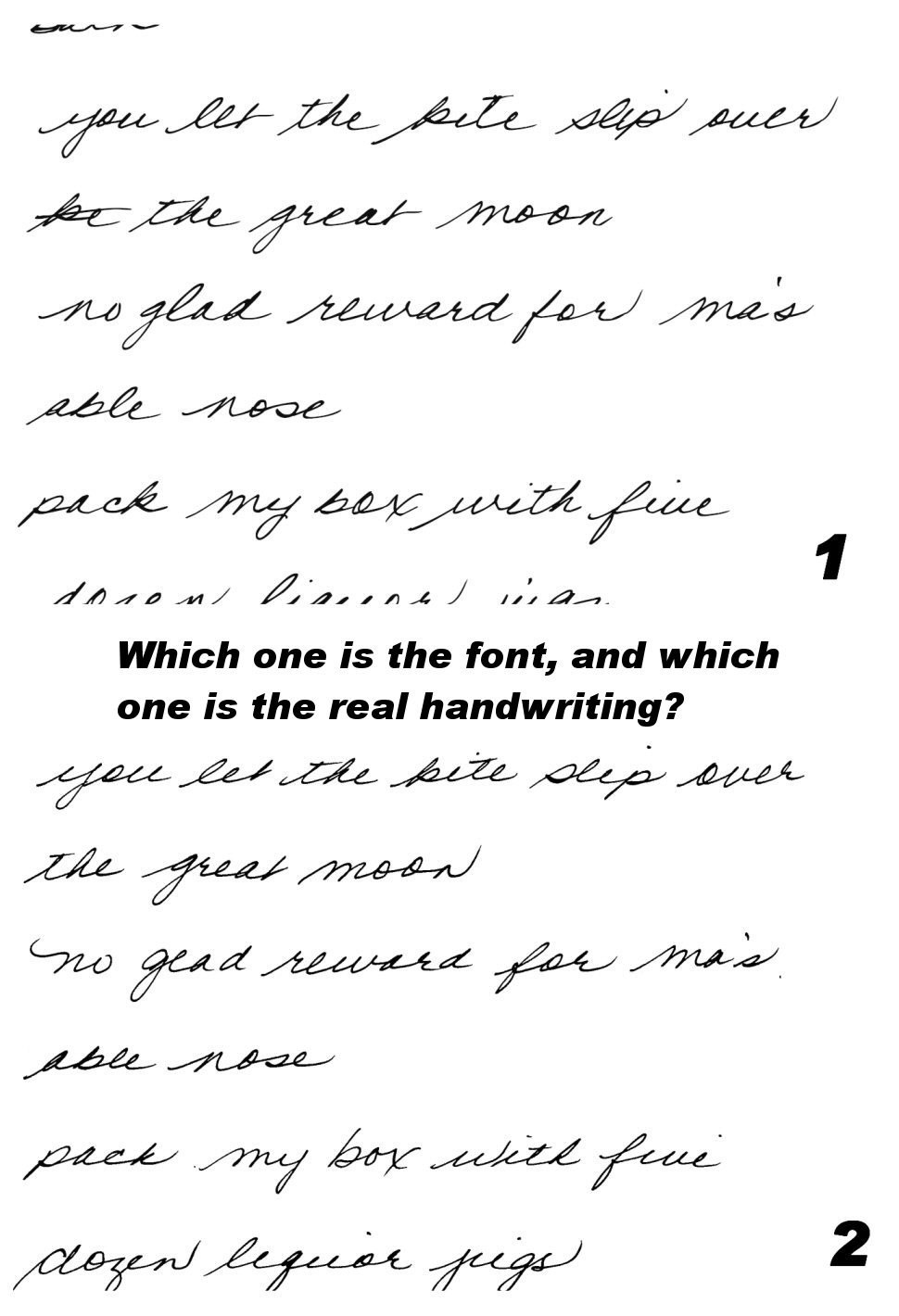 Handwriting fonts quantum enterprises blog Difference between calligraphy and typography