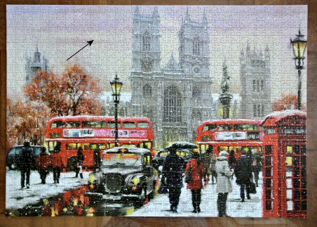 Haydn William's repaired jigsaw puzzle