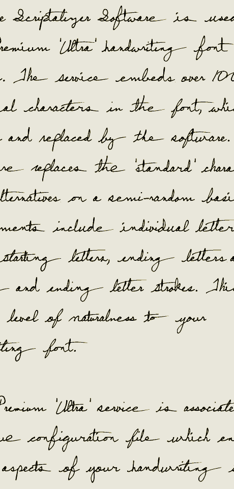 Example Of A Premium Ultra Service Handwriting Font