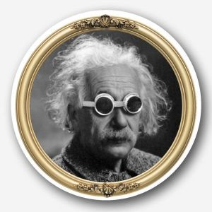 Steampunk Glass Coaster - Einstein