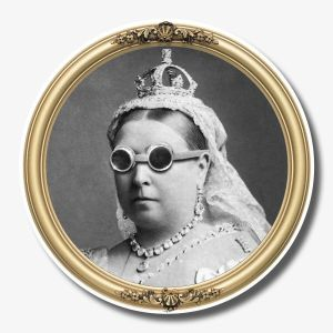 Steampunk Glass Coaster - Queen Victoria
