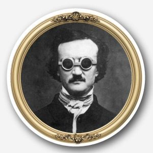 Steampunk Glass Coaster - Edgar Allan Poe