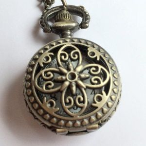 Steampunk Pendant Watch - Flower Petal