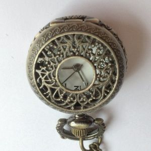 Steampunk Pendant Watch - Flower Branch