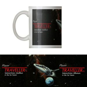 Classic  Traveller  Mug - Traveller logo with 'Player' and starship