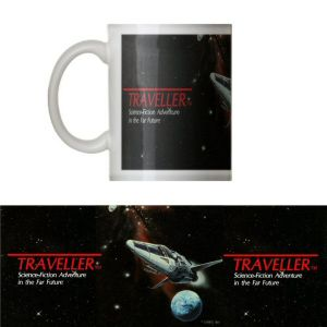 Classic  Traveller  Mug - Traveller logo with starship