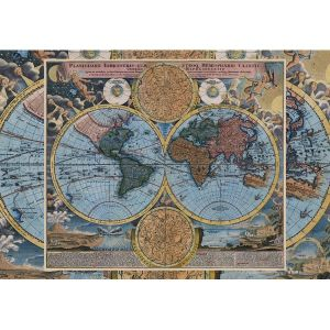 Wooden Jigsaw Puzzle - Premier #1 - Planiglobii Terrestris Antique World Map