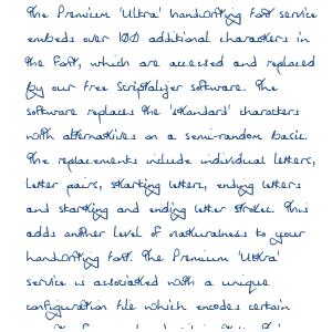 Premium 'Ultra' Font 12SL Order