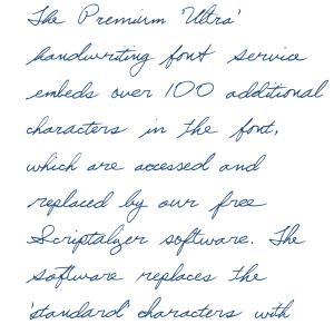 Premium 'Ultra' Font 16SL Order