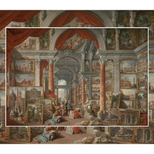 The World's Largest Wooden Jigsaw Puzzle - #6  - Picture Gallery with Views of Modern Rome by Panini