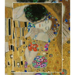 The World's Largest Wooden Jigsaw Puzzle - #5  - The Kiss (Detail) by Gustav Klimt