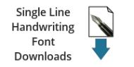 Single Line Handwriting Font Downloads