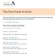 The Font Vault Archive