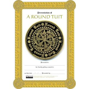 Blank 'Original' Round Tuit Certificate - For someone who has already got around to it