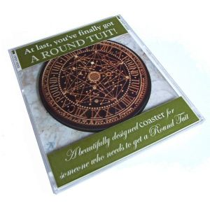 'Original' Round Tuit Coaster - presented in a calendar style CD jewel case