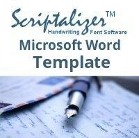 Scriptalizer Microsoft Word Template