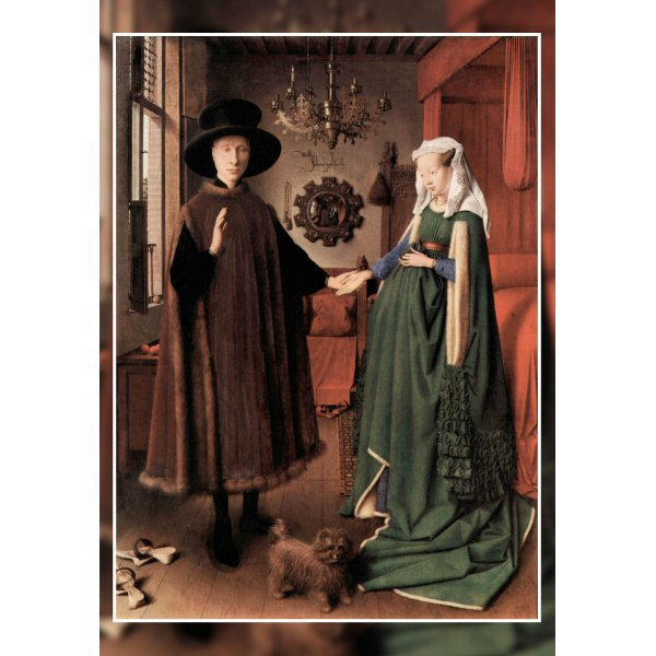 Wooden Jigsaw Puzzle - Fine Art #4 - Arnolfini Wedding Portrait by van Eyck
