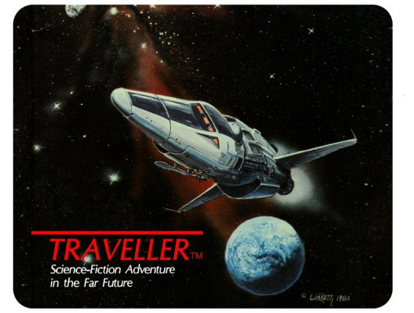Classic Traveller™ Place Mat - Traveller logo with starship