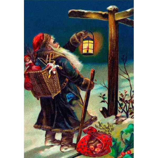 Wooden Jigsaw Puzzle - Vintage #19 - Christmas - Looking For Directions