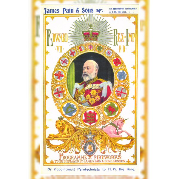 Wooden Jigsaw Puzzle - Vintage #2 - James Pain- Edward VII Programme Of Fireworks Poster