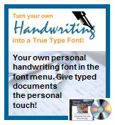 Handwriting fonts
