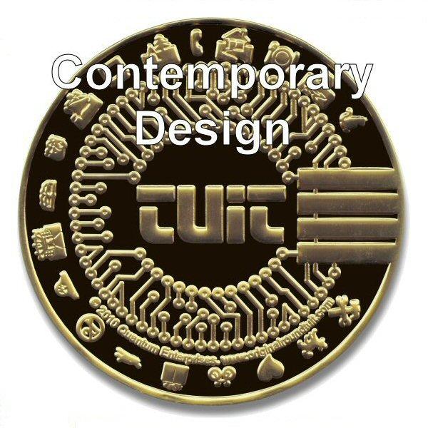 'Original' Round Tuit 100% Brass Medallion in Presentation Case (Custom  Booklet)